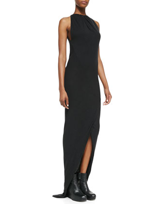 Heavy Jersey Draped Faux-Wrap Gown