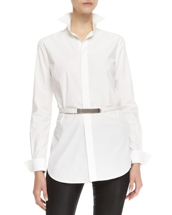 Crawford Long-Sleeve Belted Shirt