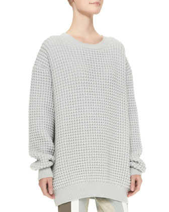 Crewneck Long-Sleeve Oversized Sweater
