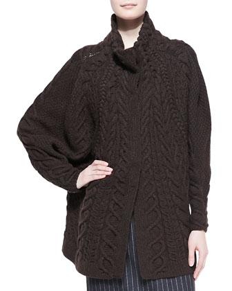 Long Chunky-Knit Cardigan