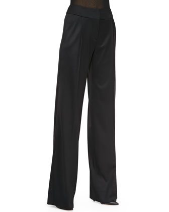 High-Waist Trousers, Black