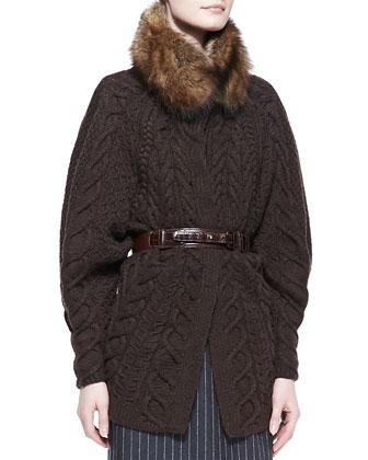 Natural Fisher Fur Collar