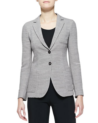 Wool Two-Button Blazer & Double-Faced Jersey Leggings