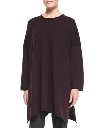 Long Side-Slit Sweater, Port
