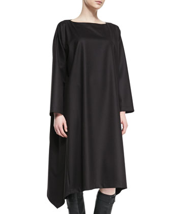 Cascading-Side Bateau Dress