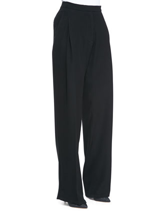 Techno Satin Baggy Leg Pants