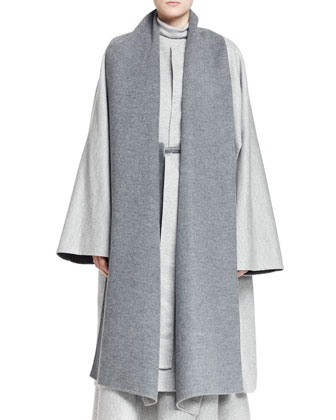 Arnet Melange Cutaway Coat, Alden Knit Top and Lynn Wool Crepe Midi ...