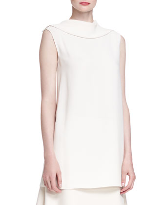 Sesil Sleeveless Cady Top
