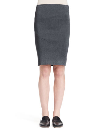 Sabelle Fluted Cashmere Top and Basio Stretch Pencil Skirt