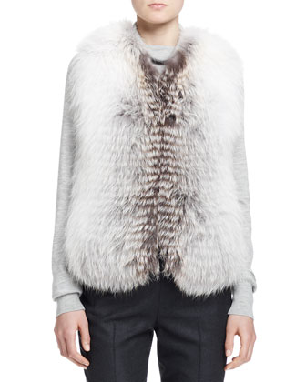Reversible Fox Fur Vest