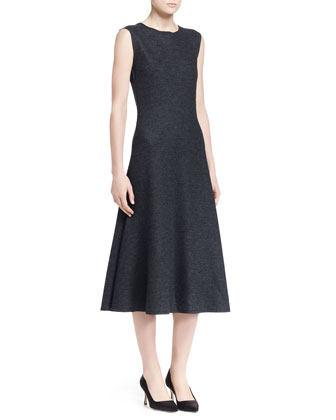 Nista Felted Wool Sleeveless Dress