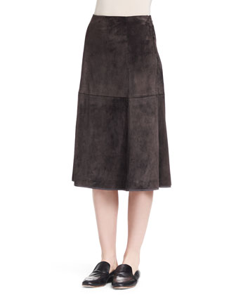Niller Paneled Suede Skirt