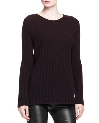 Ede Cashmere/Silk Sweater, Dark Walnut