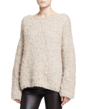 Sky Long-Sleeve Cashmere Top
