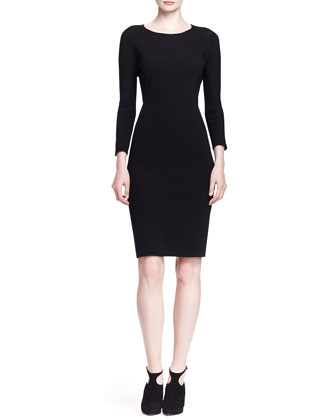 Ilid Long-Sleeve Scuba Sheath Dress