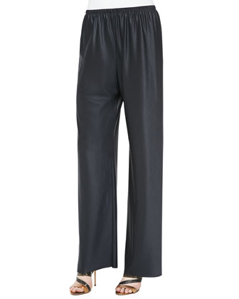 Pull-On Wool/Silk Pants