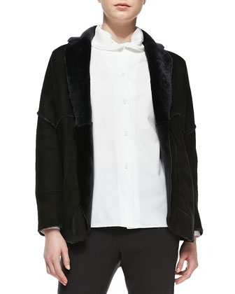 Reversible Shearling Fur/Suede Jacket