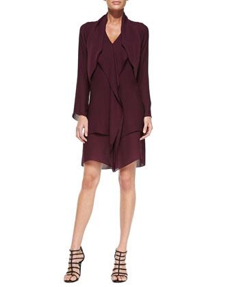 Layered Scarf Silk Georgette Dress