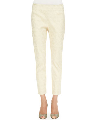 Catherine Jacquard Pants, Gold