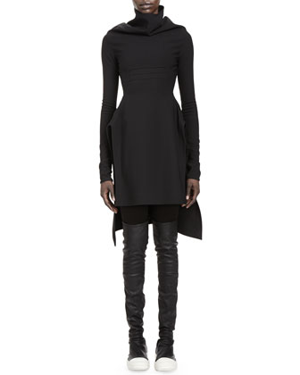 Calla Long-Sleeve High-Low Dress & Merino Wool Leggings