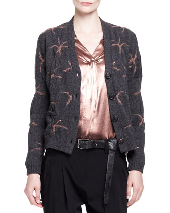 Cashmere Waterfall Stars Cardigan