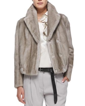 Mink Fur Blouson Jacket