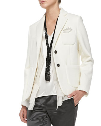 Two-Button Patch-Pocket Blazer