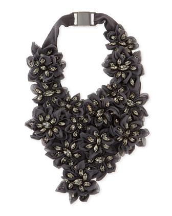 Swarovski Crystal Flower Bib Necklace