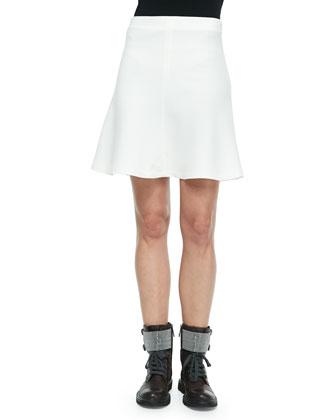 Wool Crepe Trumpet Skirt