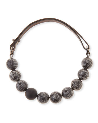Jasper & Matte Agate Necklace