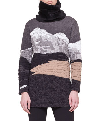 Double-Breasted Martingale Coat, Swiss Alps Jacquard Sweater and Stretch ...