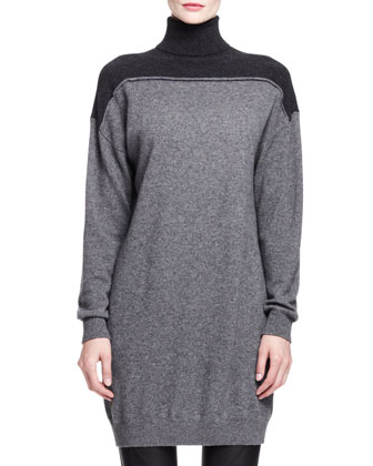 Splittable Cashmere Turtleneck Dress