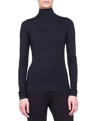Long-Sleeve Mock-Neck Top