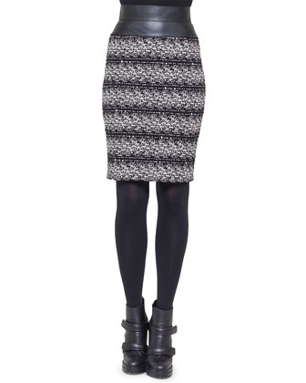 Jersey Jacquard Tweed Skirt