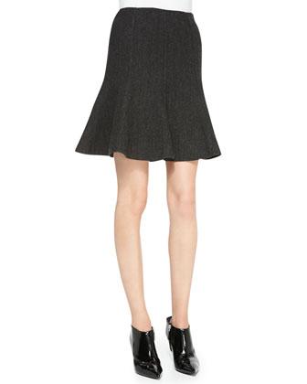 Hammond Mock-Neck Top, Long-Sleeve Jersey Top & Maye Flounce Skirt