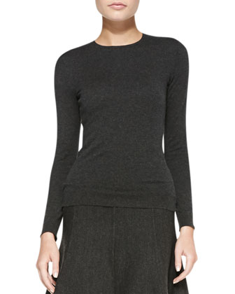 Long-Sleeve Cashmere Jersey Top