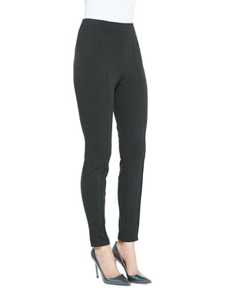Seamed Straight-Leg Pants