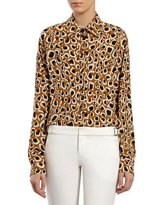 Tobacco Leopard Shirt