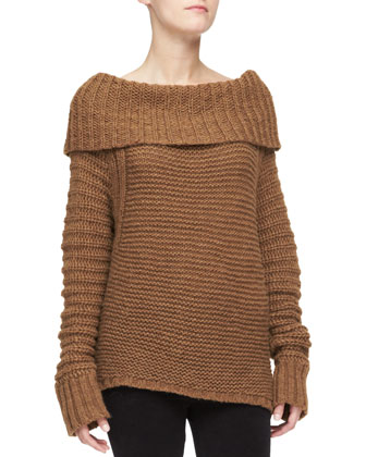 Oversized Cowl-Neck Sweater
