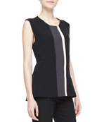 Multi Line-Block Top, Black