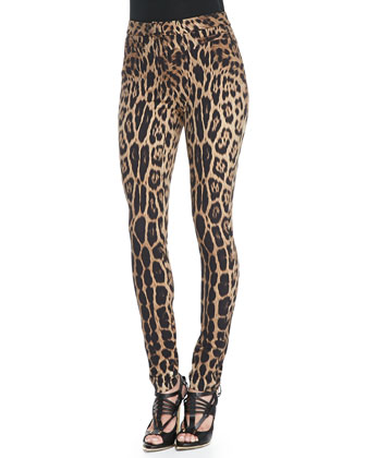 Stretch Leopard-Print Leggings