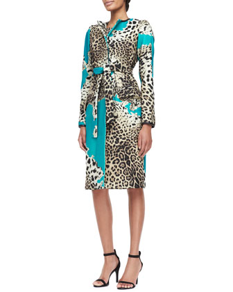 Leopard-Print Patch Coat