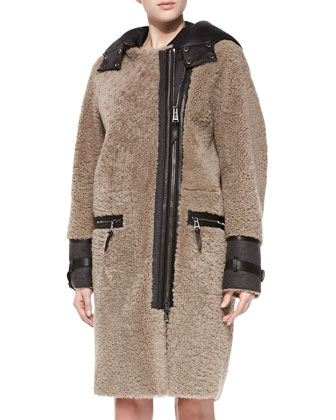 Curly Shearling Fur Coat
