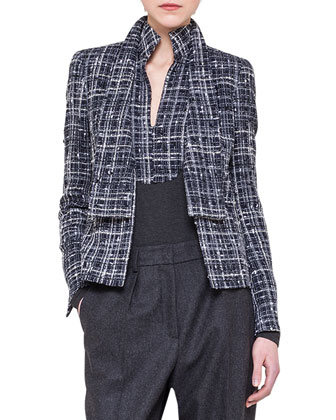 Boucle Shawl-Collar Jacket
