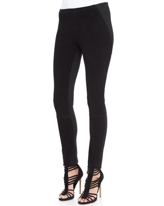 Easy Cashmere-Blend V-Neck Top & Structured Jersey Legging Pants