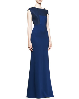 Oxidus One-Strap Godet Gown