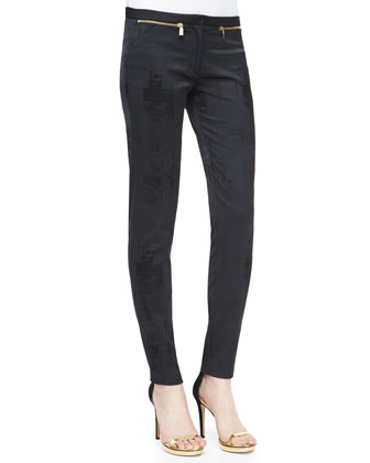 Slim Zip-Detail Pants