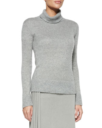 Cashmere/Silk Turtleneck Sweater