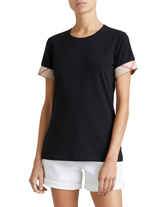 Short-Sleeve Long Tee, Black