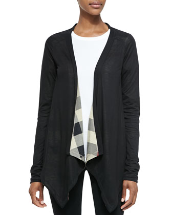 Waterfall Open Jersey Cardigan